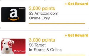 amazon and target gift cards
