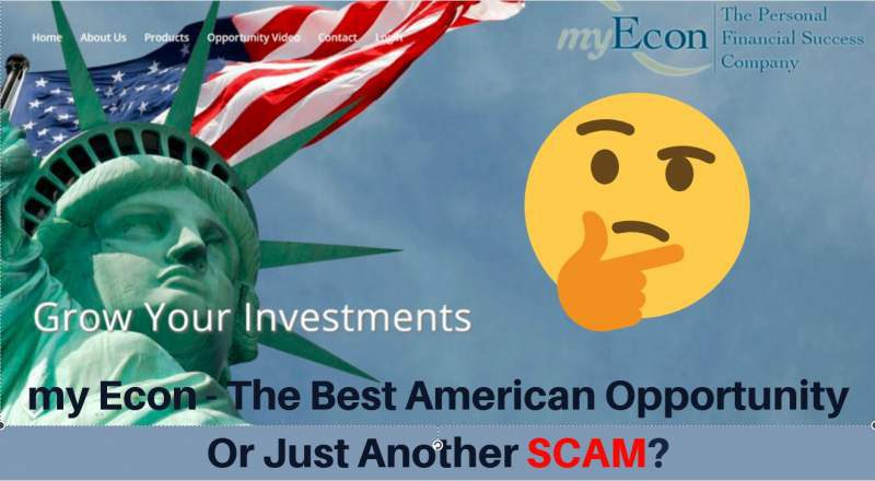 myEcon - the best American opportunity or just another scam?