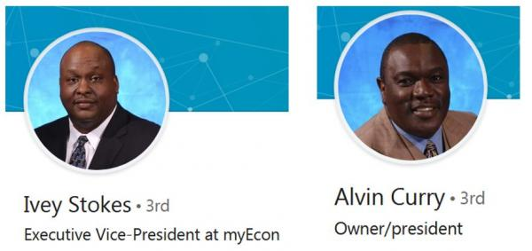 Ivey Stokes and Alvin Curry linkedin profile pictures