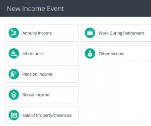 Optional Income event