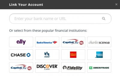 Financial accounts you can link to Personal Capital