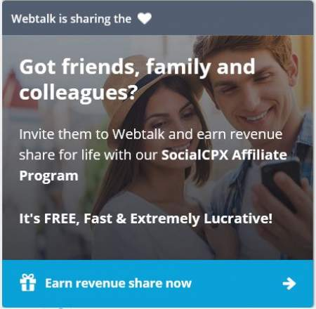 affiliate invitation to Webtalk