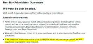 Best Buy Price Adjustment Policy