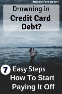 7 easy steps to start paying off the debt