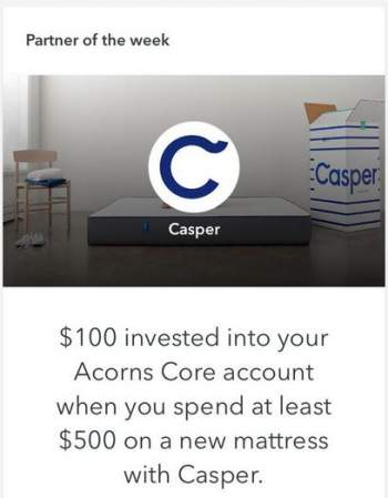 Acorns partner's offer