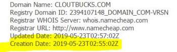 cloutbucks domain registration