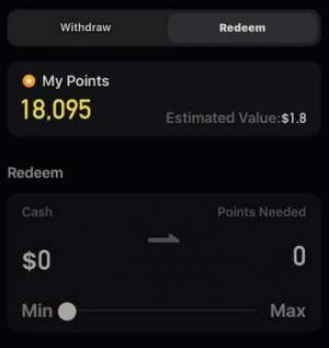 Redeem points in Zynn