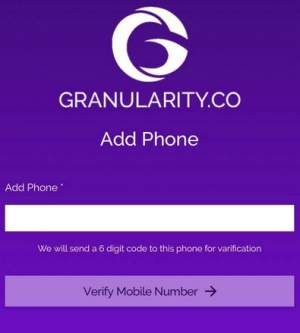 Register the phone with Granularity app